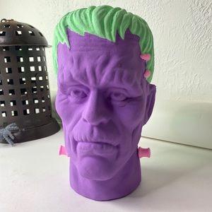 Frankenstein Head Modern Halloween Retro Decor Art